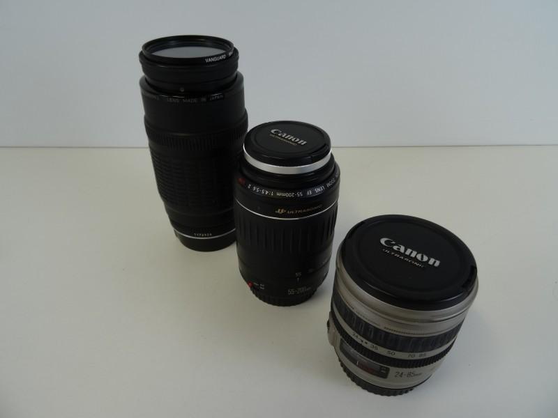 vintage Canon lenzen 3stuks