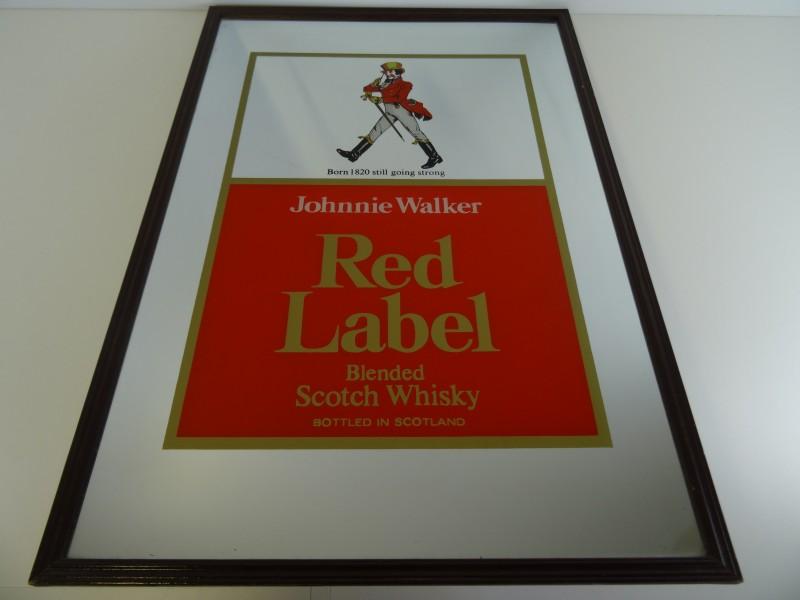 Decoratieve kader met spiegel Johnnie Walker