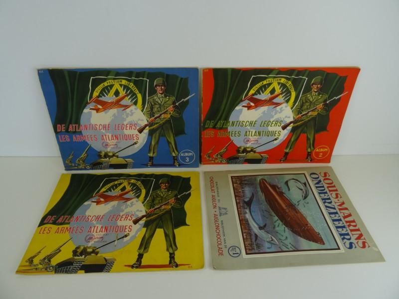 4 chromoalbums militaire onderwerpen jaren '50