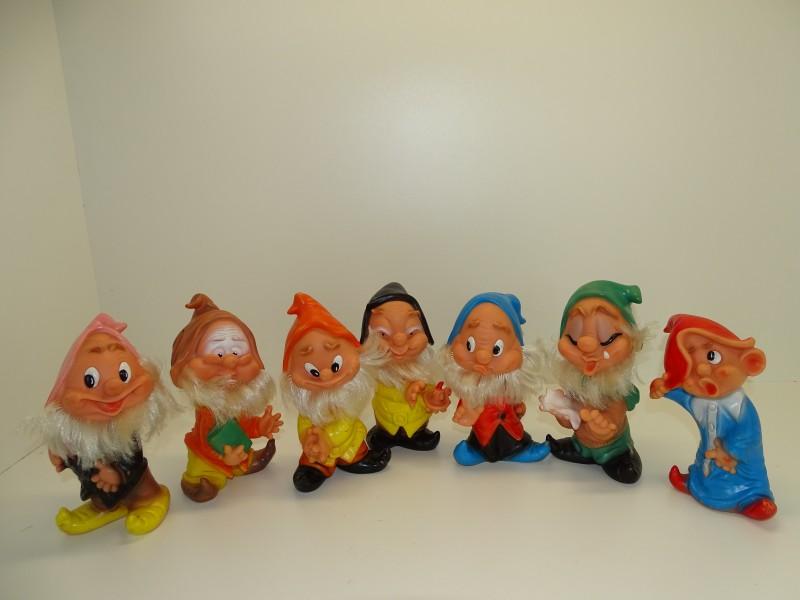 Vintage Speelgoed, Poppetjes De Zeven Dwergen, Famosa, Ferraro