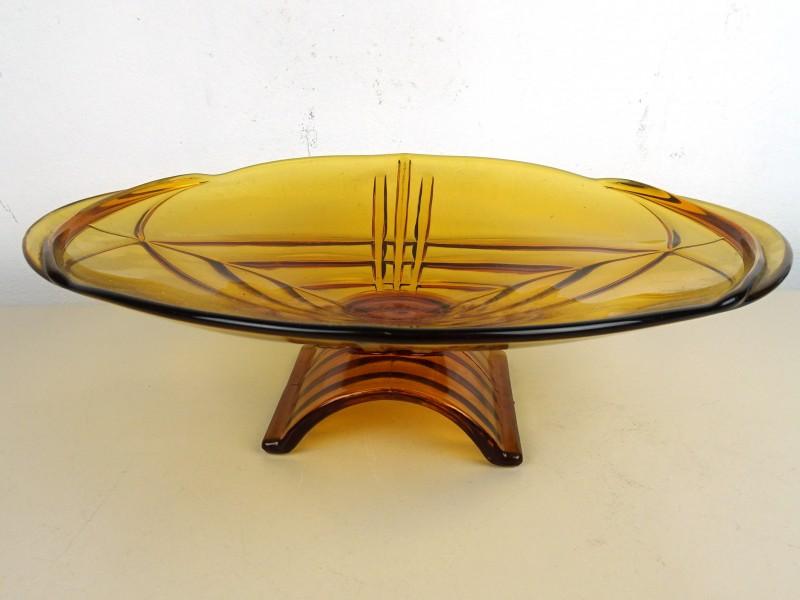 Glazen schaal op voet (Persglas)