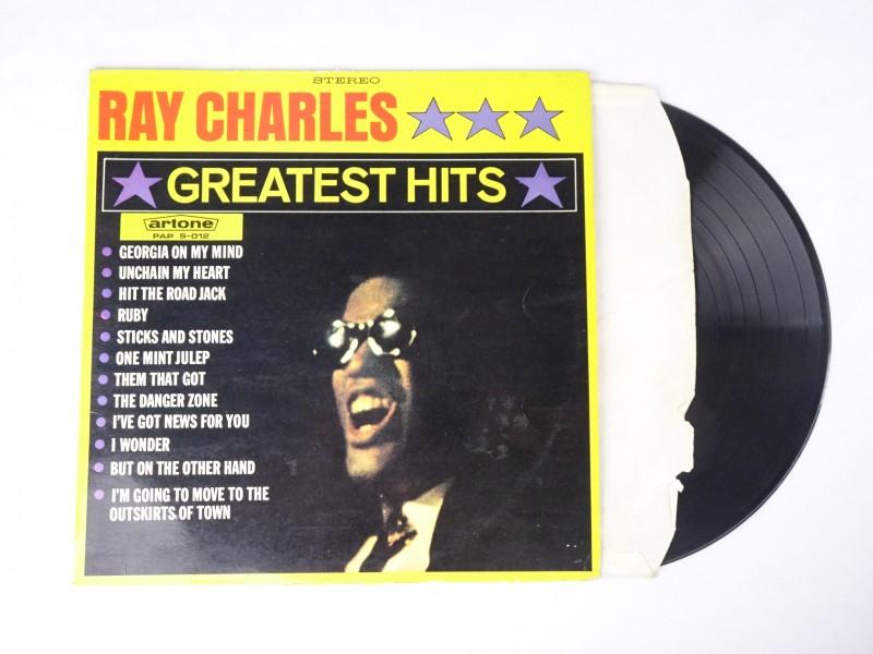 Vinyl album: Ray Charles Greatest Hits.