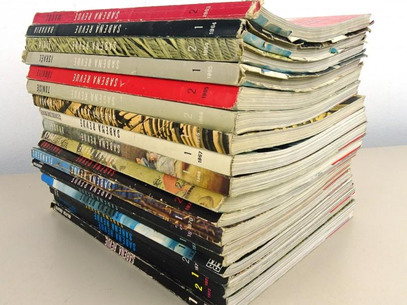 Verzameling vintage SABENA magazines