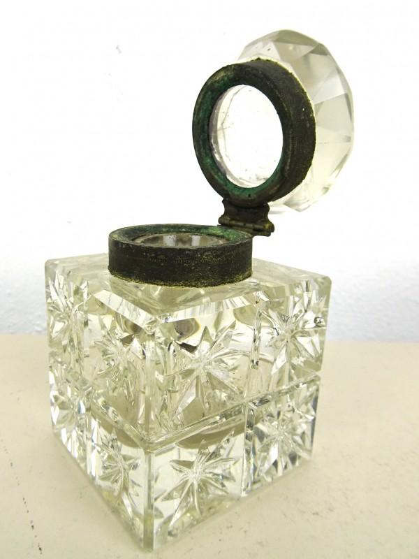 Vintage glazen inktpotje