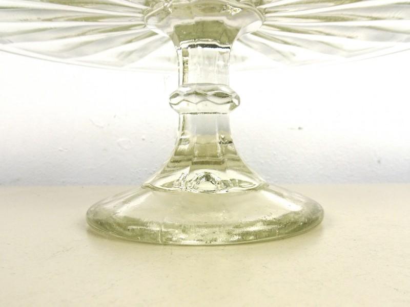 Vintage glazen taartschotel (Persglas)