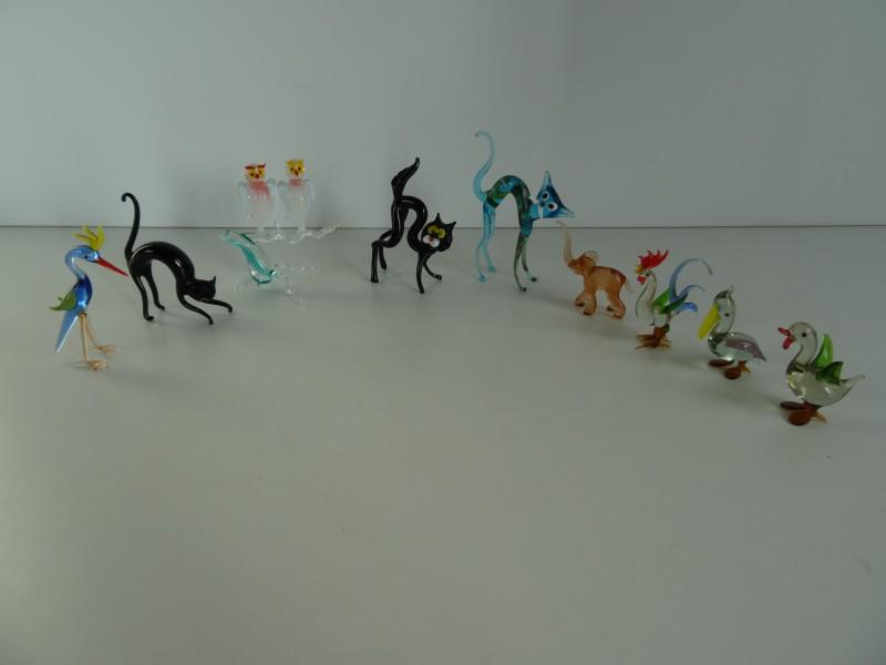 Mini glazen figuren