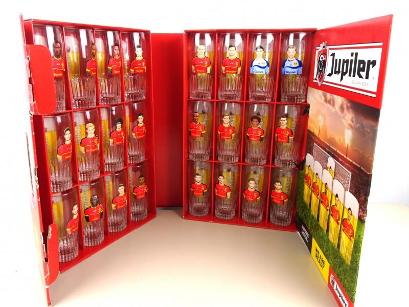 Rode Duivels bierglazen (JUPILER)