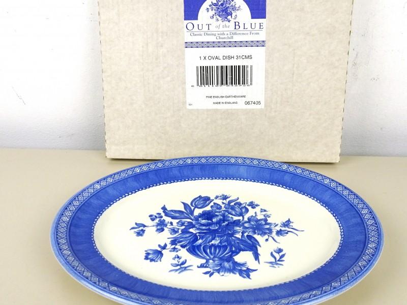 Ovale aardewerk bord