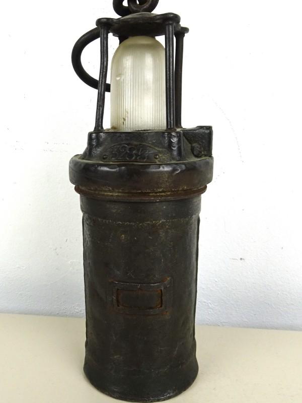 Vintage mijnwerkerslamp