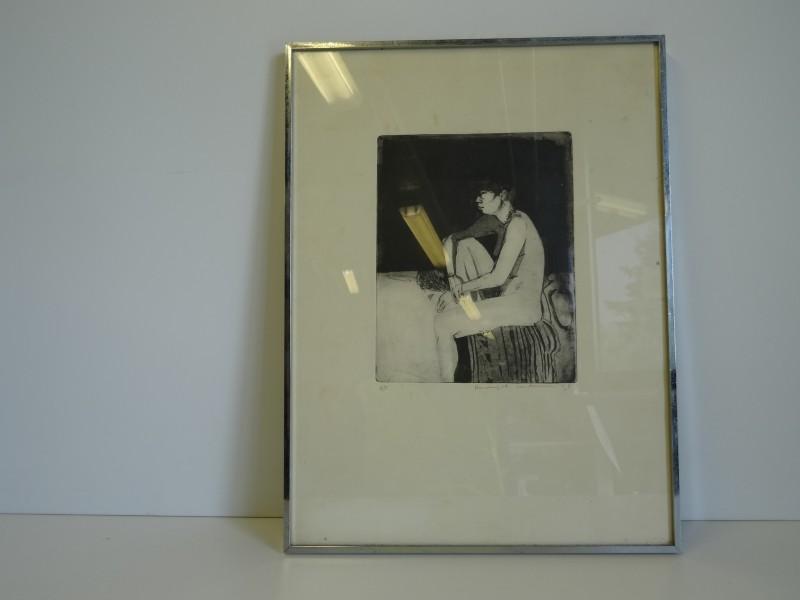 Verschueren: print van tekening Aziatische schone 1978