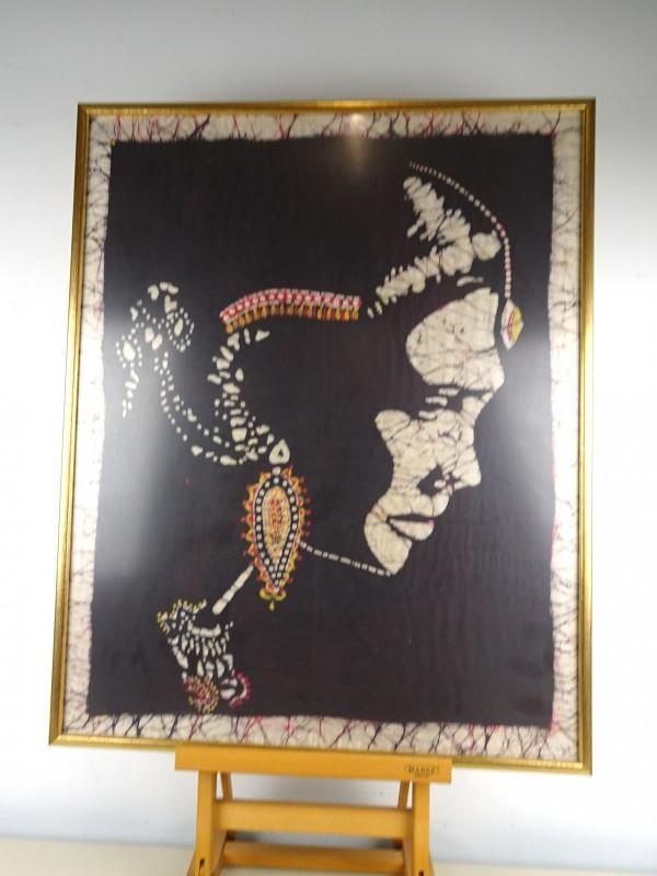 Zijde schilderij