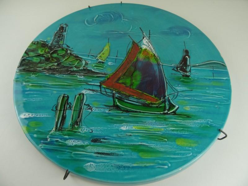 """Polychrome bord """"Il Mare"""" Italy"""