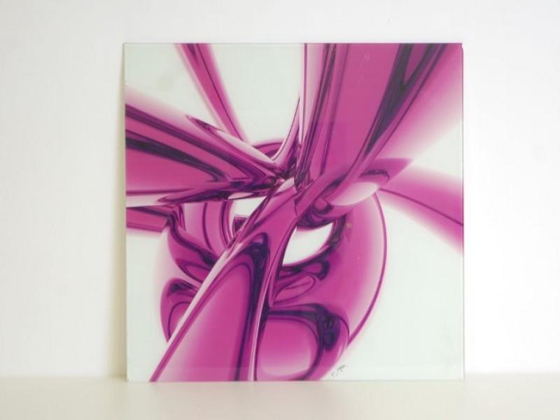 Glazen tekening/kunstwerk - muurdecoratie