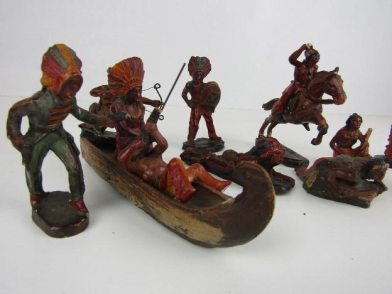 Vintage Speelgoedfiguurtjes, Indianen, C.C. Milano, Made in Italy