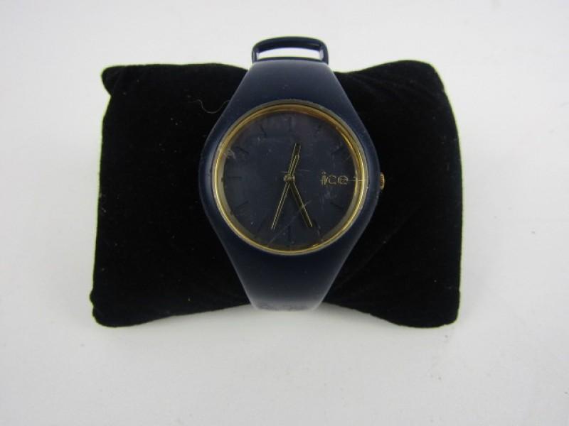 Horloge, Ice Watch, Werkend, Blauw en Goudkleurig