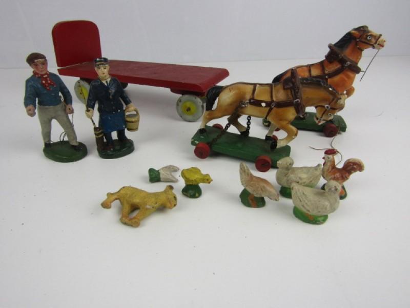 Antieke Speelgoedset NB Belgium, Boerderijthema