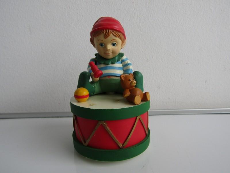 Vintage Muziekdoos: Enesco, Toyland, Elf, 1986