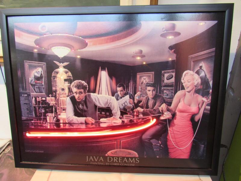 Java dreams reclame met neon
