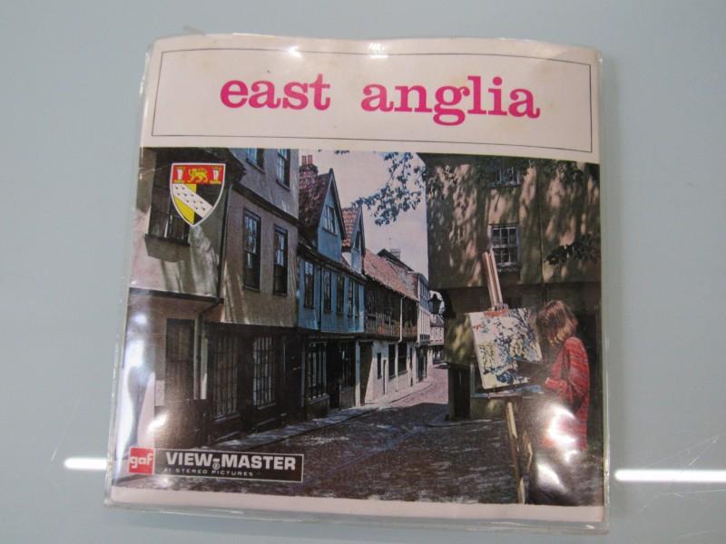 """View Master schijfjes """" East Anglia """" en """" Moderne vliegtuigen """"."""