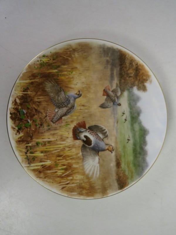 11 Coalport Bone China borden met wilde vogels, ontworpen door Rodger McPhail.