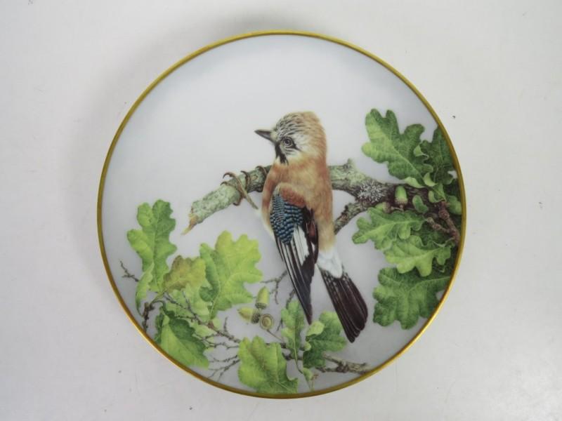 8 porseleinen borden met vogels (Haviland Limoges)