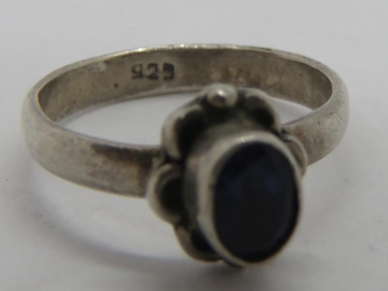 Zilveren ring 925 met Tansaniet