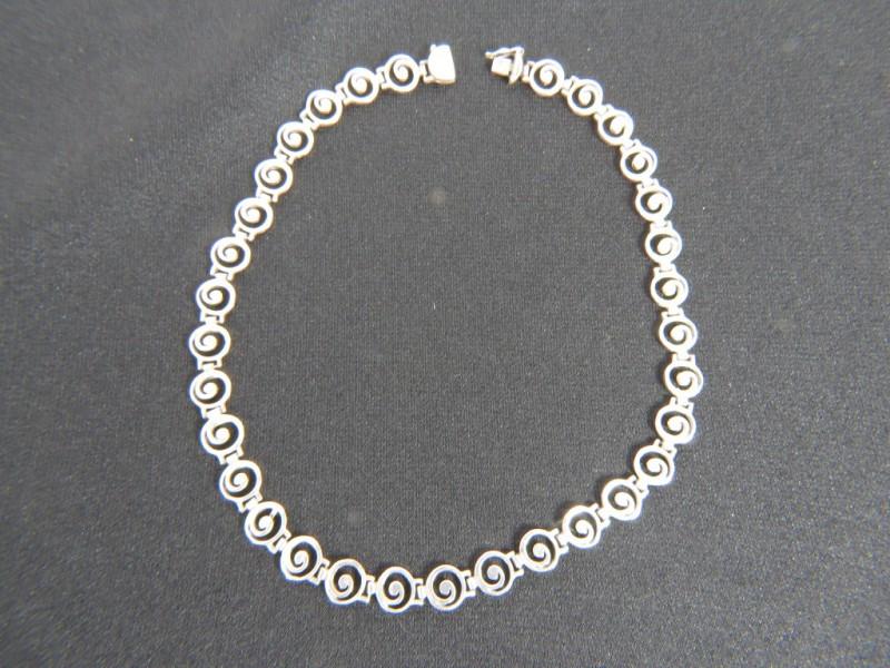 Halsketting 925 met spiralen