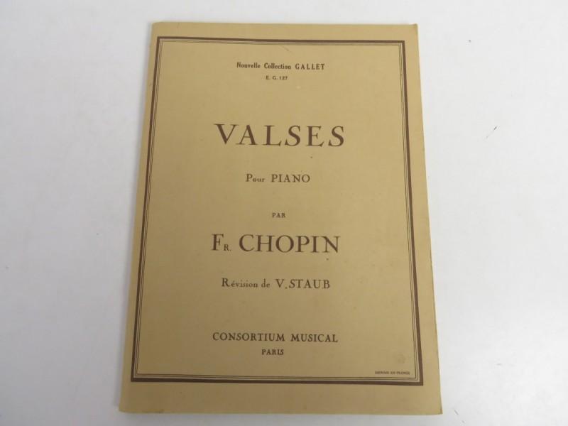 Partituur boekje - valses de Chopin