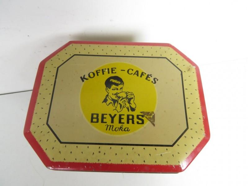 Vintage koffieblik met afbeelding Boudewijn en Fabiola