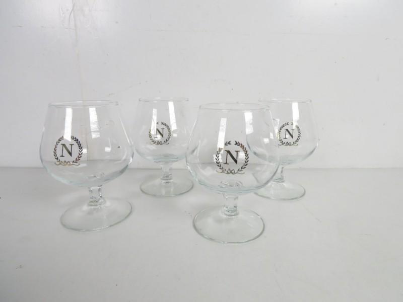 4 Cognac Napoleon glazen
