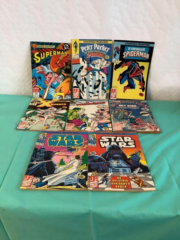 Lot van 8 Marvel comics uit de jaren '80