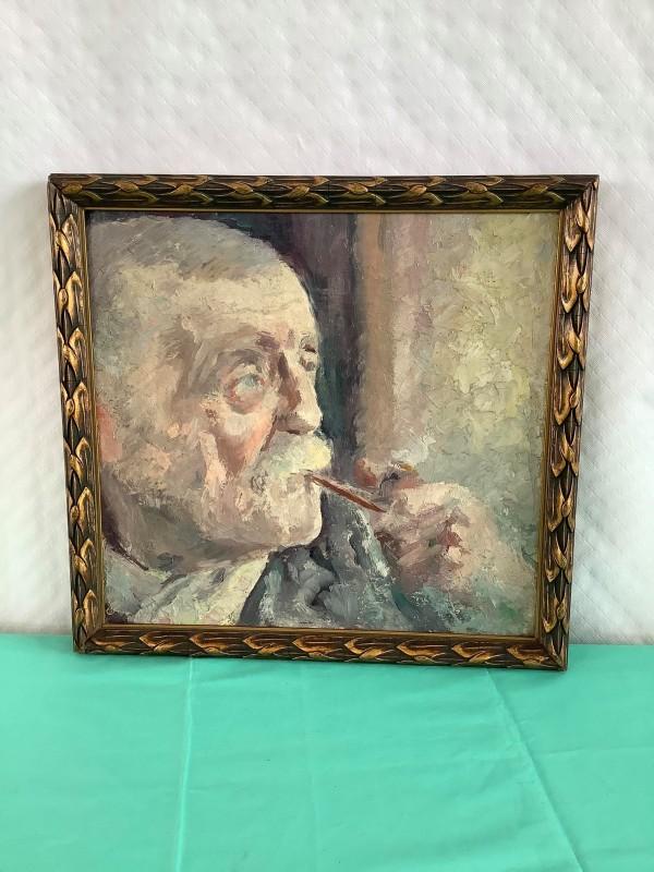 Schilderij van een man met pijp door Hertoge
