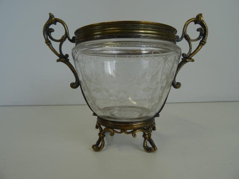 Vintage glazen bonbonniere
