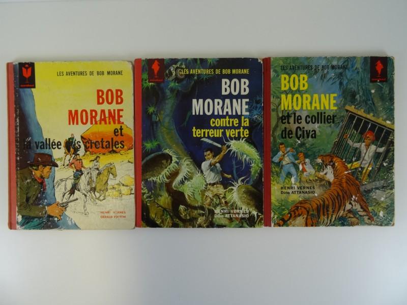 Vernes-Attanasio: 3 x Bob Morane Marabout nrs 4,5,6  1963 - 1964 Frans