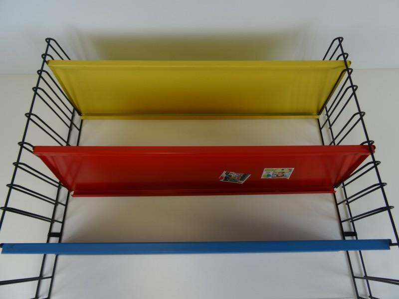 Tomado boekenrek blauw, geel, rood