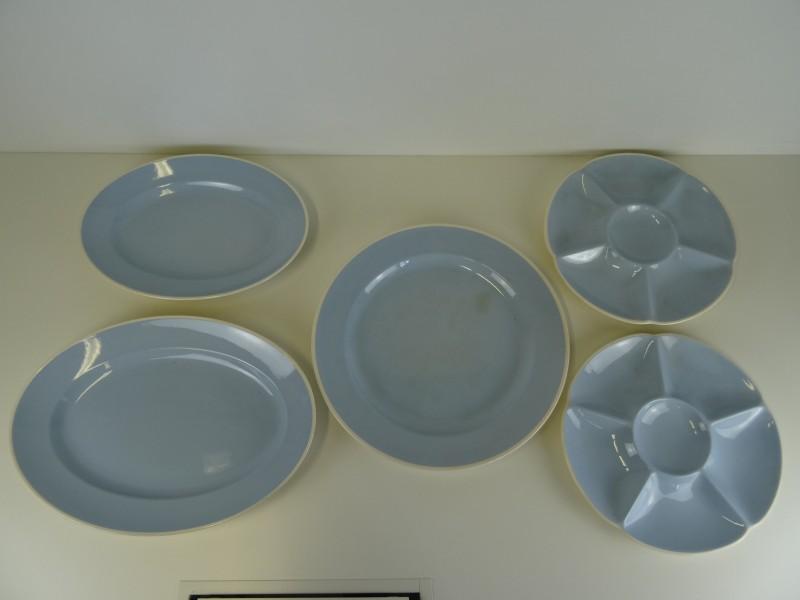 Vintage Sonja Aluminia blue confetti