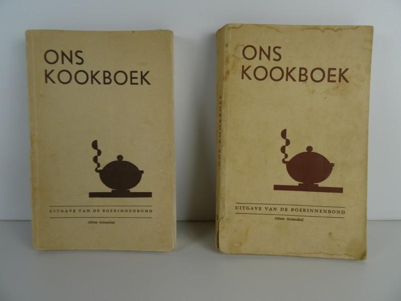Boerinnenbond 2x Ons kookboek 1953 en 1963