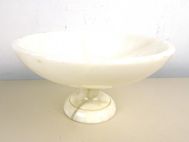 Witte marmeren schaal