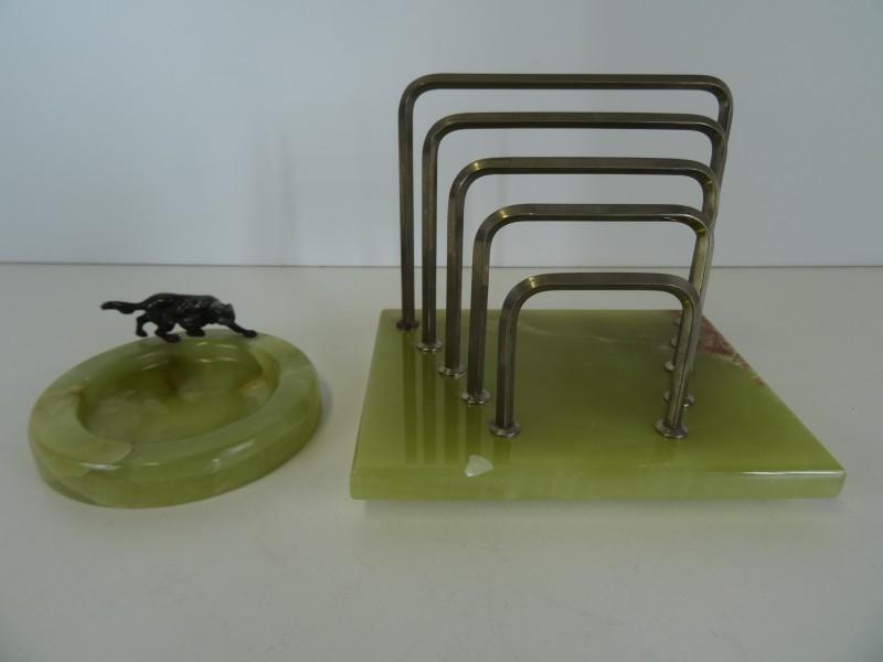 Vintage bureauset marmer