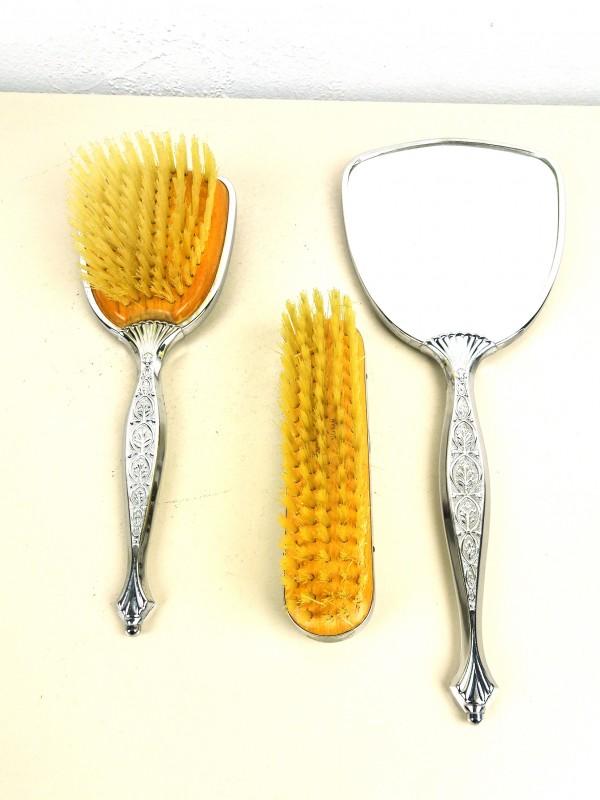 Vintage borstel en spiegel-set
