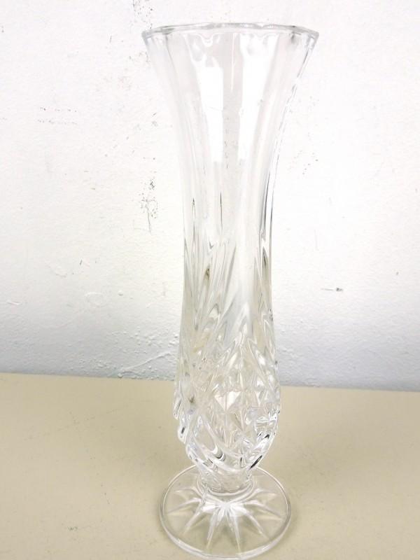 Geslepen glazen vaas