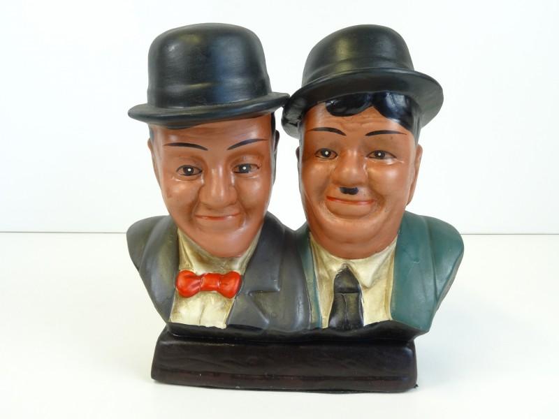 Borstbeeld Laurel & Hardy