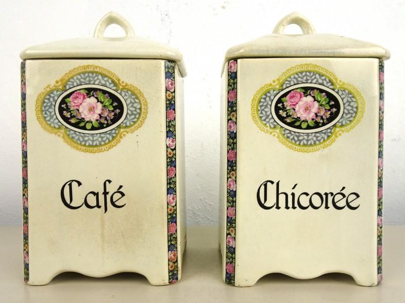 Vintage koffie- & cichoreipot