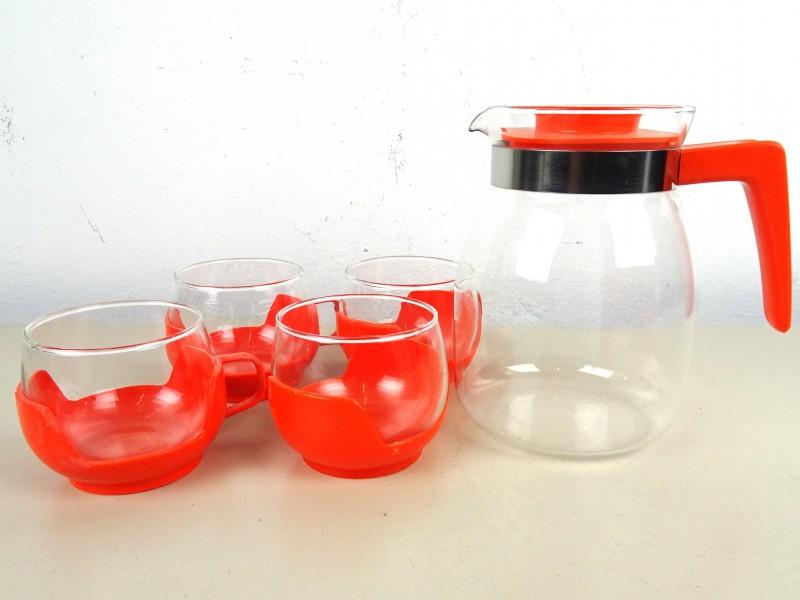 Vintage glazen theeset