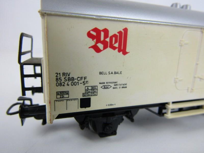 Modeltrein, Märklin HO, Goederenwagon 'Bell'