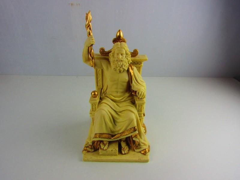 Beeld, Zeus op Troon, Gedetailleerd