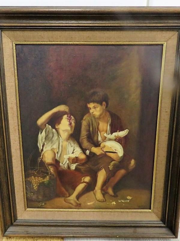Schilderij van twee jongens