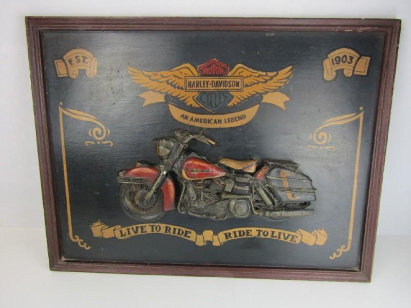 Decoratie, Harley Davidson, Houten Kader