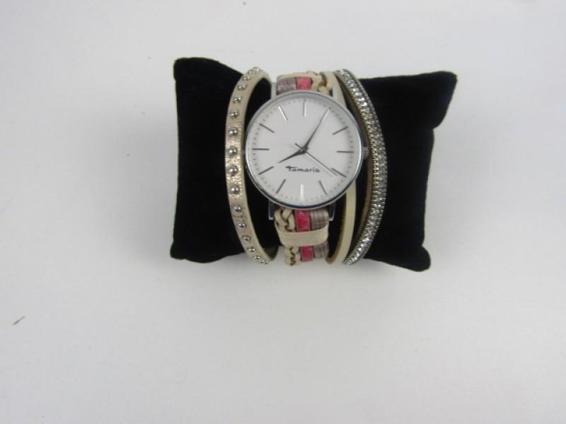 Horloge met Sierlijke Armbandjes, Tamaris