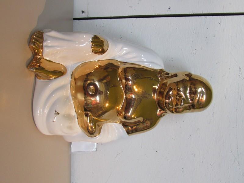 Vintage keramiek beeld Boeddha  Ahura